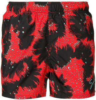 Givenchy abstract pattern swim shorts