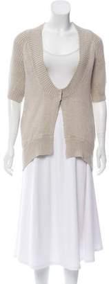 Theory Linen Short Sleeve Cardigan