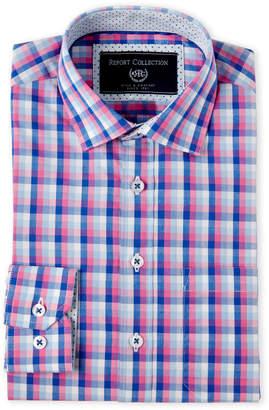 Report Collection Boys 8-20) Plaid Dress Shirt