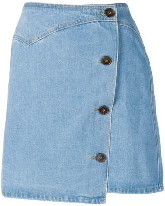 Nanushka Amita 80's wash denim skirt