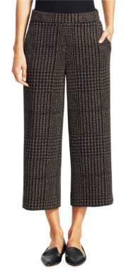 Akris Punto Cortina Cropped Houndstooth Pants
