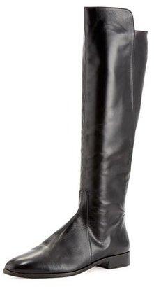 Delman Buena Tall Leather Boot, Black $598 thestylecure.com