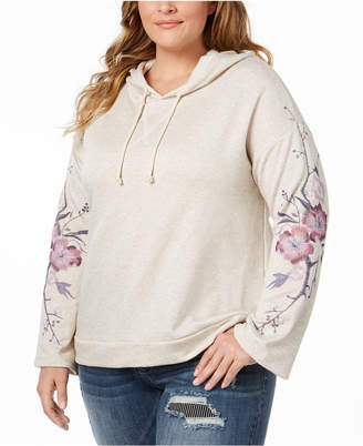 INC International Concepts I.n.c. Plus Size Embroidered Hoodie Sweatshirt, Created for Macy's