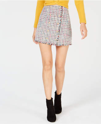 Leyden Tweed Mini Skirt