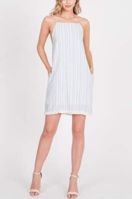 Paper Crane Strappy Open-Back Dress