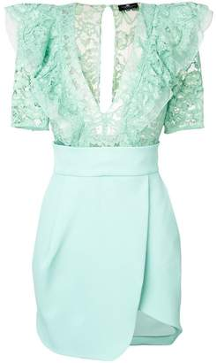 Elisabetta Franchi lace ruffled dress