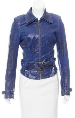 Jitrois Structured Leather Jacket