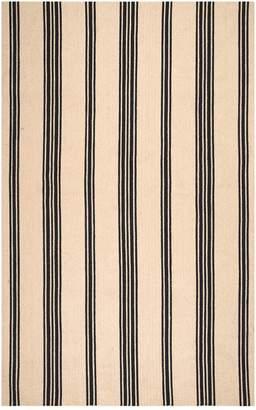 nuLoom Hand Braided Striped Brenna Rug - Natural