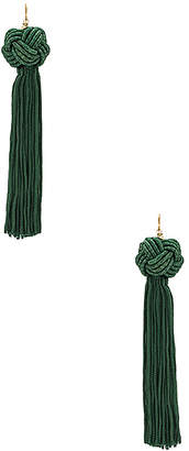 Vanessa Mooney Astrid Knotted Tassel Earring in Green. $40 thestylecure.com
