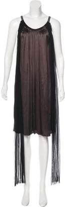 Lanvin Satin Pleated Dress