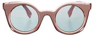 Fendi Mirrored Round Sunglasses