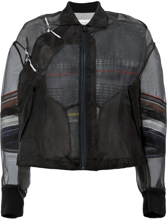 Quetsche Semi-transparente Jacke