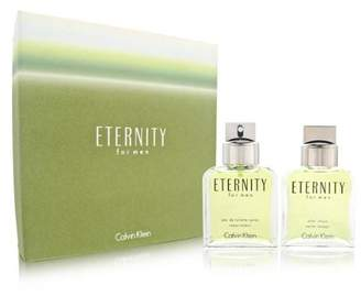 Calvin Klein Eternity by for Men 2 Piece Set Includes: 3.4 oz Eau de Toilette Spray + 3.4 oz After Shave Pour (Glass Bottle)