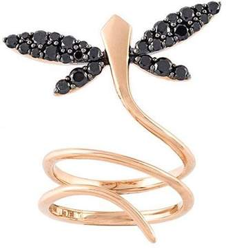 Anapsara diamond dragonfly ring
