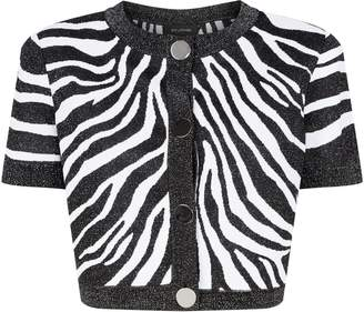cb993d31dd6e St. John Crop Zebra Print Jacket