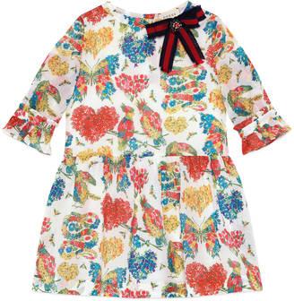 Children's corsage print dress $650 thestylecure.com