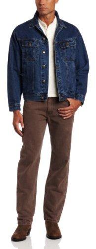 Wrangler Rugged Wear Men's Unlined Denim Jacket, Antique Navy