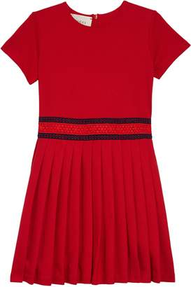 08228d0122e Girls Red Pleated Dress - ShopStyle