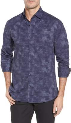 Stone Rose Slim Fit Houndstooth FX Sport Shirt