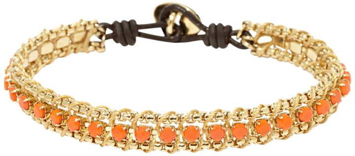 Fossil Chain Wrist Wrap- Orange