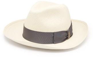 Borsalino Panama Quito Wide Brim Straw Hat - Mens - White 1e0d437dd2d