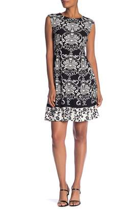 Sandra Darren Printed Pleated Dress