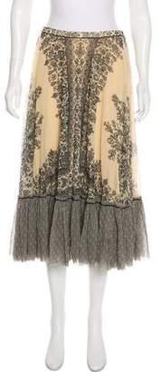 Fuzzi Printed Midi Skirt