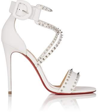 Christian Louboutin Women's Choca Spikes Leather Sandals