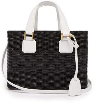 Mark Cross Manray small wicker basket bag