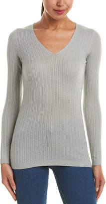 Vince Mixed Rib Cashmere Top
