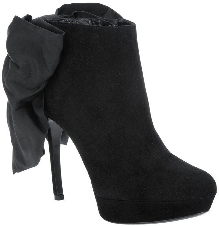 Alexander McQueen bow detail ankle boot