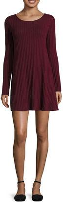 Fire Long Sleeve A-Line Dress-Juniors $46 thestylecure.com