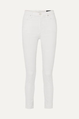 Gold Sign The High Rise Slim-leg Jeans - White