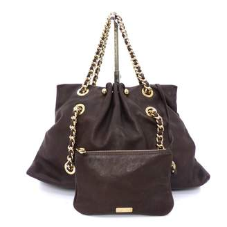 Emporio Armani Brown Leather Handbag