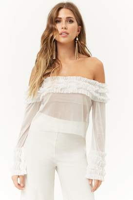 e5119c759eb37 Forever 21 White Cold Shoulder Tops For Women - ShopStyle Canada