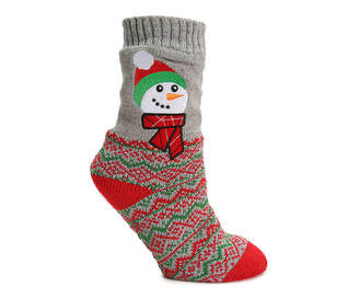 Mix No. 6 Snowman Slipper Socks - Women's