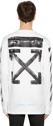 Brushed Arrows Jersey Oversize T-Shirt $303 thestylecure.com