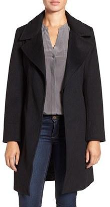 Women's Ellen Tracy Belted Wool Blend Wrap Coat $198 thestylecure.com
