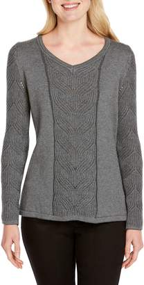 Foxcroft Tabitha Cable Knit Sweater