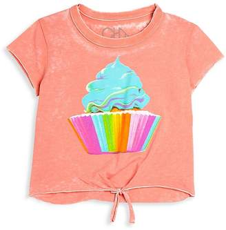 Chaser Girl's Cupcake Tie-Front Tee