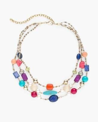 Multi-Colored Beaded Illusion Necklace