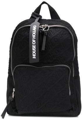 House of Holland embroidered logo backpack