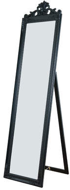 Willa Arlo Interiors Antiqued Wood Standing Wall Mirror