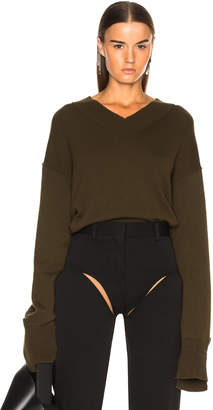 Helmut Lang Cashmere High V Neck Sweater
