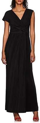 The Row Women's Allure Knotted Plissé Gown - Black