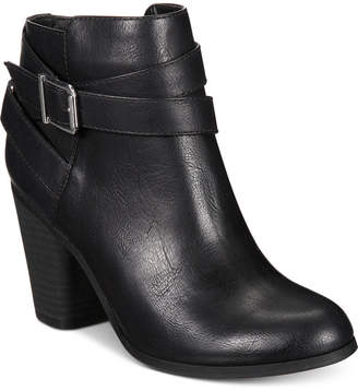 553868b42981b at Macy s · Material Girl Lexia Block-Heel Booties