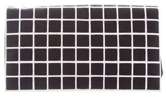 Dries Van Noten Checkered Nylon Leather-Trimmed Clutch