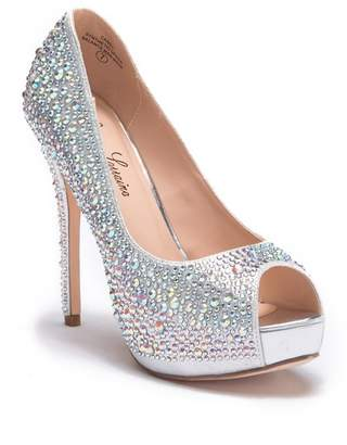 Ralph Lauren Lorraine 'Candy' Crystal Peep Toe Pump (Women)