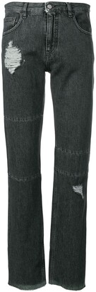 MM6 MAISON MARGIELA distressed slim-fit jeans