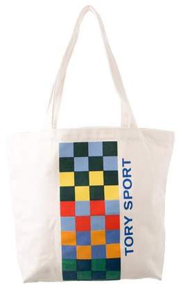Tory Sport Colorblock Canvas Tote